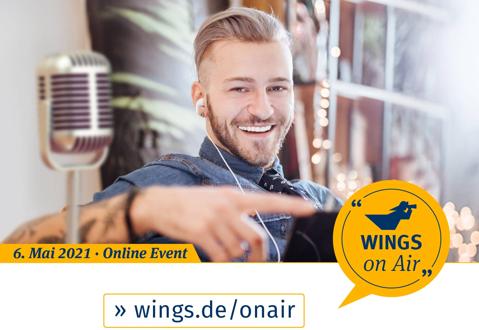 WINGS on Air am 6. Mai