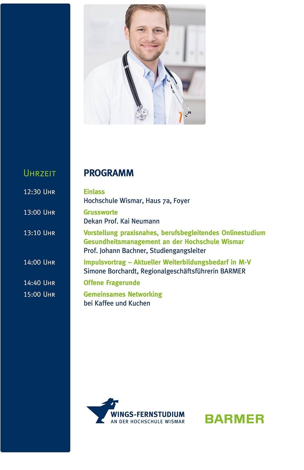Programm Symposium Gesundheitsmanagement | WINGS-Fernstudium